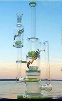 Wholesale 2016 Grace Glass Bongs water pipes glass bong with sprinkle perc and round liner perc and gear perc recycler oil rigs