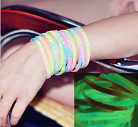 Wholesale Dazzle colour light luminous bracelets Luminous hand light Brilliant flash silica gel EXO Absorb light