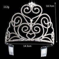 Wholesale 2015 Vintage Peacock Crystal Tiara Bridal Hair Accessories For Wedding Quinceanera Tiaras And Crowns Pageant Rhinestone Crown