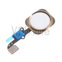 Wholesale White Color Home Button Key Cap Menu with Flex Cable for iPhone Plus Home Button assembly