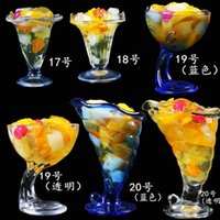 beer snacks - 1pc good Ice cream dessert cup transparent glass fruit juice beer wine cups hand free snack bowl fancy cold drink cup mugs