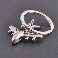 airplane keychains - Fashion Men s Keyrings Metal Airplane Keychain For Promotion Gift