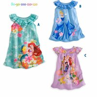 Cheap 2015 summer Cinderella Princess Children Baby Girl Dress babies flower dress baby girls Pajamas kids baby cartoon Tracksuit 3 color DHL free