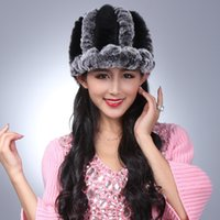 beaver fur hat - Manufacturers selling rabbit wool knit cap Beaver rabbit wool winter warm fur hats