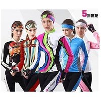 Wholesale nuckily women cycling Jerseys suits in winter autumn fall with long sleeve bike top bib pants in bike clothing bicycle wear