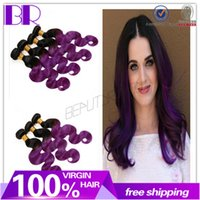 Cheap Hot In Stock 7A brazilian ombre purple hair 3pcs human hair weft 100% ombre cheap human hair weaving human hair extension