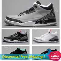 retro basketball shoes - Top quality Retro Cement GS Infrared wolf grey basketball shoes Men Women Retro III basketball shoes sports Athletic shoes US