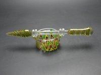 ashtray - Twisted Glass oil ashtray glass oil dabber oil rig dabber