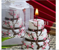 beeswax candles sale - Factory directly sale Wedding candle Cherry Blossom Design Cake Candle Favor