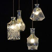 bar counter designs - Classic Bottle Design DIY Ceiling Lamp Light Glass Pendant Lighting Bulb Home Decorative Light Fixture Bar Counter Luminiare order lt no tra