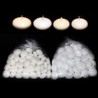 Wholesale 10pcs White Floating Candles quot For Wedding Decoration Table Centerpieces Supplies