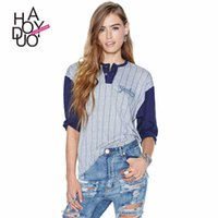 baseball style shirts for women - Haoduoyi Yankees print American baseball sports style casual women loose T shirt for and
