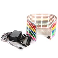 Wholesale 45x11cm Sound Activated Equalizer Car Sticker Music Rhythm LED Flash Light Lamp