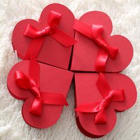 Wholesale red heart paper a large desire sweets gift box wedding favor boxes