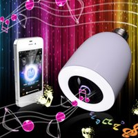 rf light wireless remote control - electronic new arrival Wireless Bluetooth Speaker with LED Light Bulb With RF Remote Control and Changable LED lamp E27