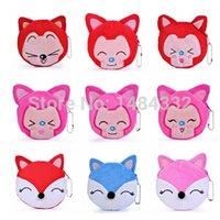 ali case - Cute Portable Cartoon Bag Change Coin Purse Case Plush Cartoon Ali Ah tao Firefox coin bags mixed styles