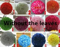 Wholesale 20 CM color New Artificial Encryption Rose Silk Flower Kissing Balls Hanging Ball Christmas Ornaments Wedding Party Decorations H0194