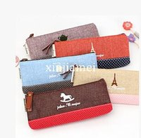 Cheap South Korea Fashion Causal Cotton Pencil Case Lovely Cosmetic Coin Purse Bag