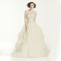 beaded clothing patterns - custom made elegant SPECIAL VALUE Extra Length Strapless Ball Gown with Ruffle dresses XLCWG568 Wedding Dresses Bride Clothing