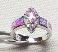 opal - retail fashion jewelry silver stamped nice pink fire opal ring for women