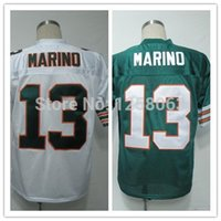 throwback football jersey - Factory Outlet Christmas Clearance Sale Dan Marino White Green Men s Throwback Football Jerseys Size Mix order