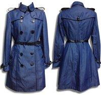 b s purses - B home big upscale Tencel denim long coat and long sections Slim thin section jacket windbreaker edge quality purses