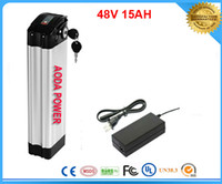 Wholesale V Ah Electric Bicycle Battery with Aluminum Case BMS V A charger