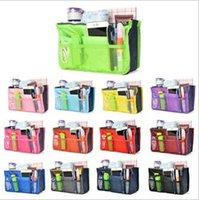 amazing cosmetics - 14 colors Women Travel Insert Handbags Large liner Totes cosmetic Bags Organizer Bag Storage Bags Amazing make up bags LJJC907