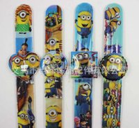 Wholesale Despicable Me slap watch minion Precious Milk Dad Children Watches Me2 Slap Snap On Silicone Quartz Wrist Watch