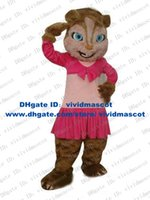beautiful blue eyes - Beautiful Brown Brittany Alvin And The Chipmunks Chipmunk Chipmuck Mascot Costume With Pink Skirt Long Eyelash Blue Eyes No