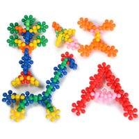 Wholesale 65pcs Plum Flower Shape Building Blocks Joint Inserted Plastic Educational Toy