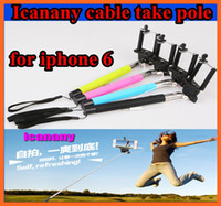 Wholesale fashionable Z07 Plus Extendable Monopod Selfie Stick direct grooveTripod Handheld Monopod Icanan Cable Take Pole for iphone IOS Android