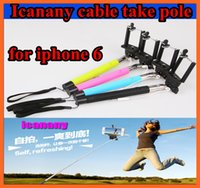 Wholesale HOT Z07 plus Plus Extendable Monopod Selfie Stick direct grooveTripod Handheld Monopod Icanan Cable Take Pole for iphone IOS Android