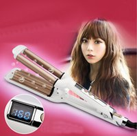 barrel waver - LCD Pro Electric Ceramic Styler Hair Waver Curler Roller Barrel Wavers Hair Styling Tools Hair Curling Iron triple barrel flat
