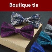 Wholesale Men s formal wear new men s bow tie solid color bow classic black and white contrast highlights gentleman of the wind
