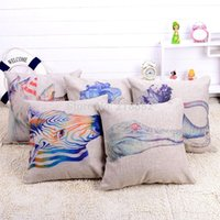 Wholesale Home Decorative Throw Pillows Cotton Linen quot Back Seat Sofa Pillow Cover Cute Animal Cushion Cover