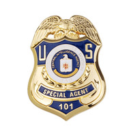 Wholesale US CIA Special Agent Special Activities Division Sad Metal Badge