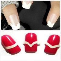 Wholesale Different Designs French Smile Easy Beauty DIY Nails tape Tools round square Nail Art Nail Sticker Gel Nail Stickers