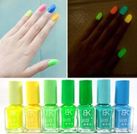 art club nail polish - Candy Color BK Brand Luminous Nail Polish Fluorescent Nail Art Nail Enamel Color Club Nail Lacquer Set Glow At Night Nails Factory price