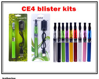 Electronic Cigarette Set Series  eGo CE4 blister kits CE4 atomizer, 650mah 900mah 1100mah battery with usb in blister pack various colors high quality DHL free