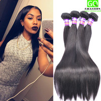 Cheap Factory Wholesale Virgin Human Hair Weave Malaysian Straight Hair Weft Brazilian Hair Bundles Peruvian Indian Hair 4Bundles Free Shipping