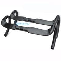 aero - Aero full carbon fiber road bicycle handlebar cycling parts hande bent bar x400 mm glossy or matte bike handlebars