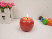 Wholesale 1PCS Christmas Gift Candle LED Candle Creative Emulation Apple Modeling Candle the Birthday Candles