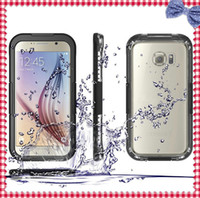 Cheap Mobile phone case For Samsung Galaxy S6 Crystal shell Sealed Shockproof Dirt proof Durable Underwater Diving Swimming Waterproof Cases Cover