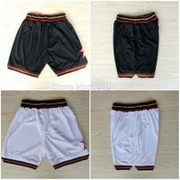 Wholesale Basketball Shorts Allen Iverson Nerlens Noel Shorts Stitched White Black Shorts