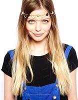 big foreheads - 2015 Bohi New Big Discount Fashion Women Bohemian Bridal Tiaras Metal Pearl Hair Band Hair Accessories Forehead Headband Head Chain CPA192