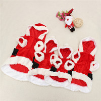 arrival pet outwear - New Arrival High Quality Pet Puppy Dog Christmas Clothes Santa Claus Costume Outwear Coat Hoodie Outfit order lt no track