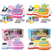 barcode cash register - Supermarket Checkout Counter Cash Register Toy with Barcode Scanner Calculator Play Money and Shopping Playset for Kids LY