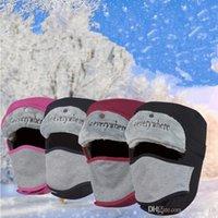 Wholesale LJJG75 Faux Fur Russian Bomber Hats Warm Snow Hats Trapper Aviator Cap Outdoor Sports Winter Hats with Ear Flaps