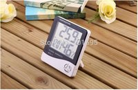 Wholesale High Quality Digital LCD Thermometer Hygrometer Temperature Humidity Meter Gauge Clock Alarm